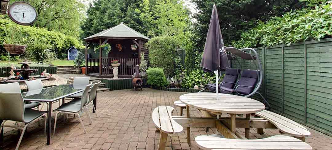 Garden at Castle Green Bed and Breakfast Matlock